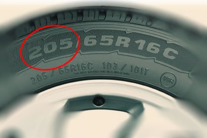 резина шириной 205 мм